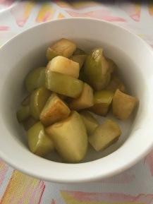 sauteed apples with cinnamon & ghee